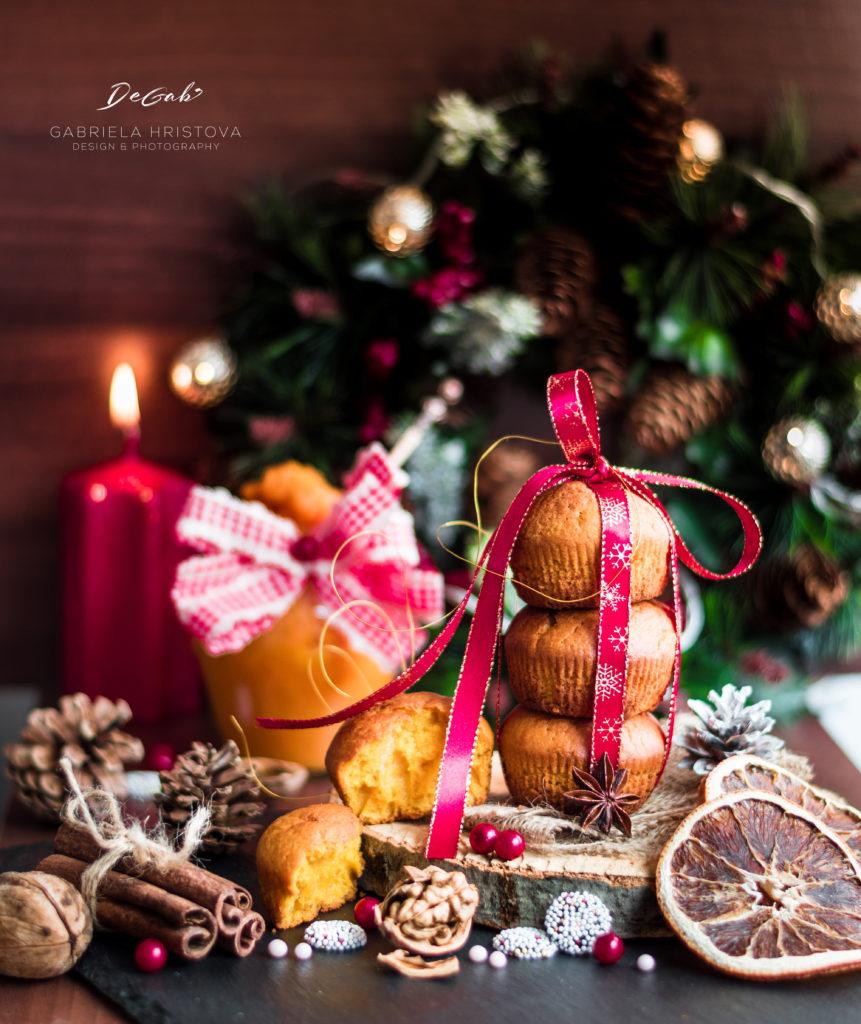 Кулинарна фотография - Коледни мъфини