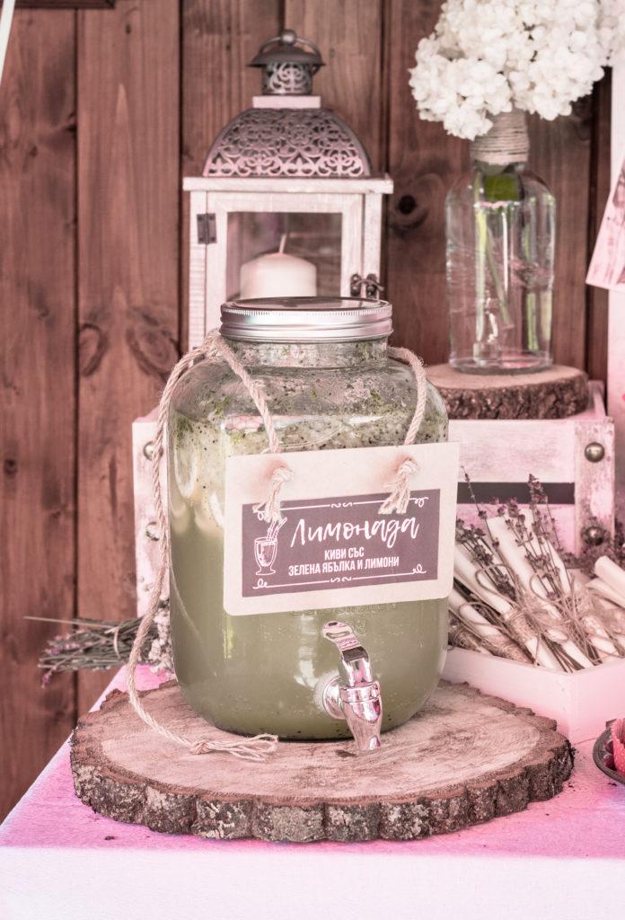 Домашна лимонада - зелена ябълка и киви