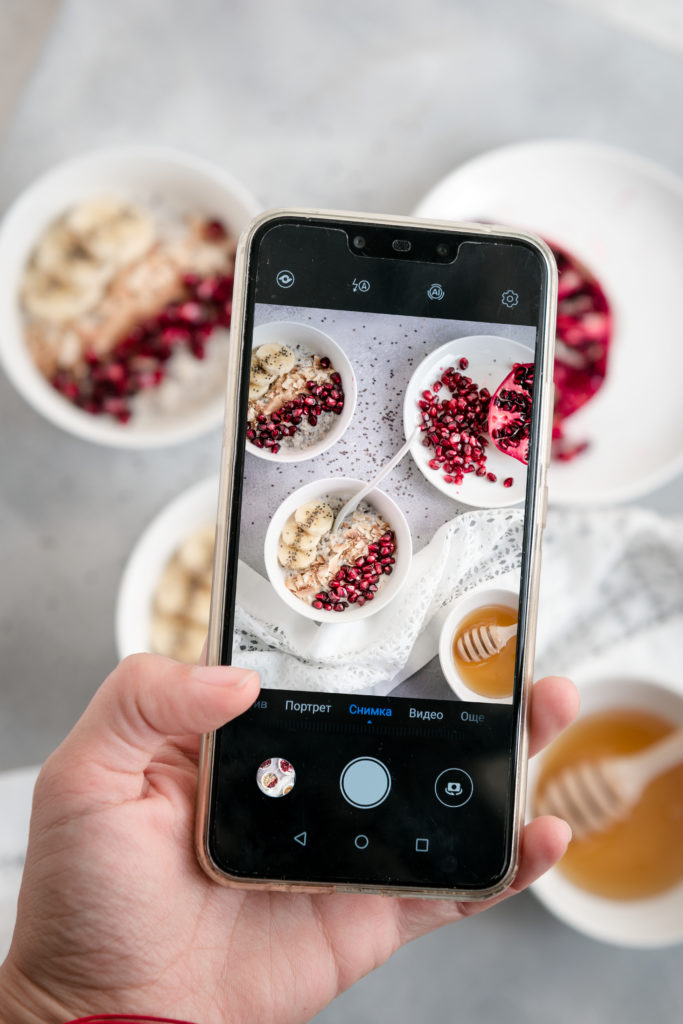 FOOD PHOTOGRAPHY USING CELL PHONE