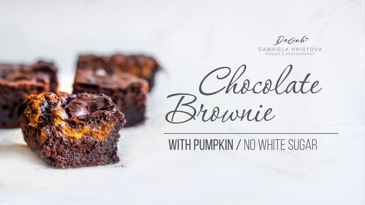 VEGAN CHOCOLATE BROWNIE WITH PUMPKIN
