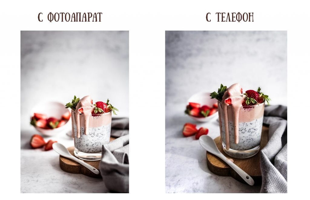 Food photography: using a camera/ using a phone.